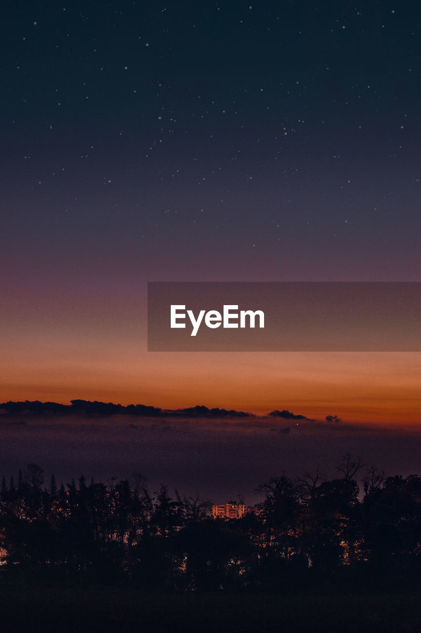 Scenic view of sky at night