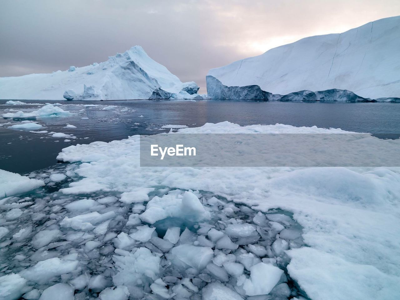 Scenic View Of Icebergs