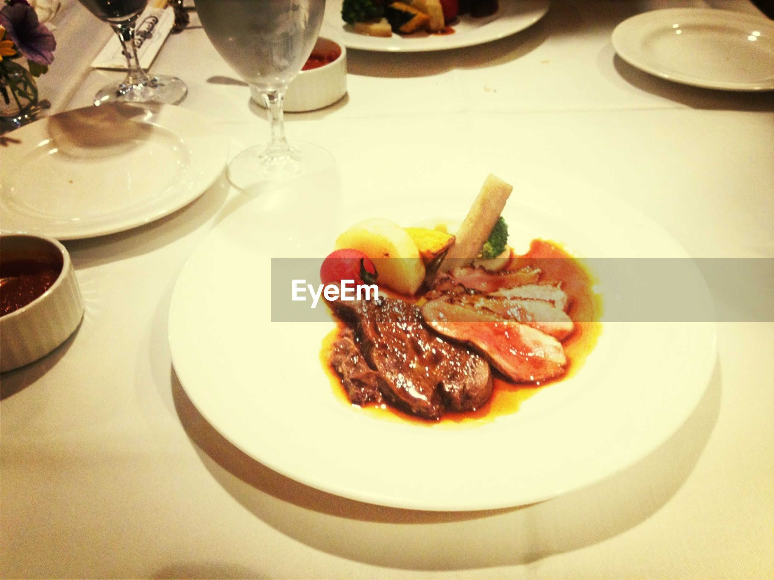 food and drink, food, indoors, freshness, plate, table, ready-to-eat, still life, healthy eating, serving size, meal, drink, served, close-up, meat, indulgence, fork, high angle view, drinking glass, restaurant