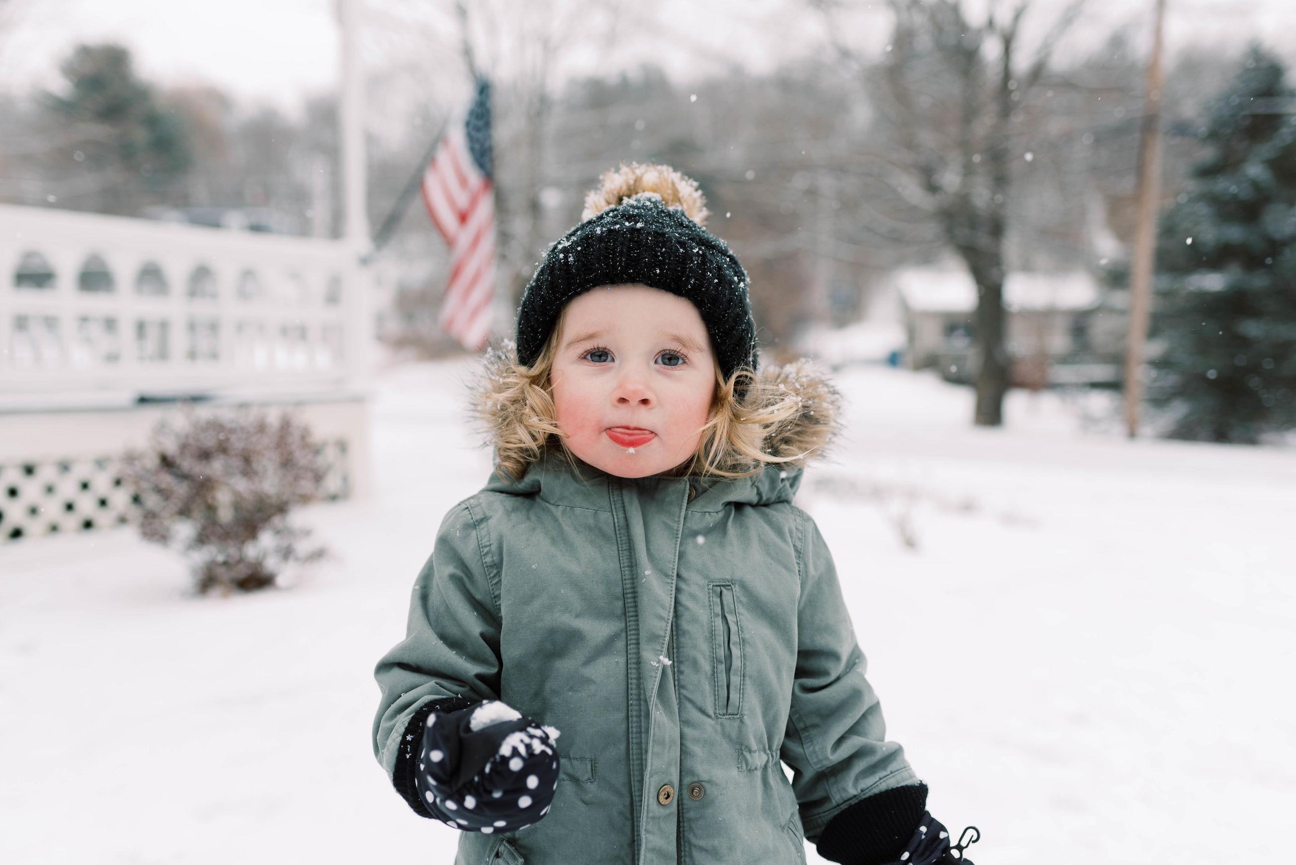 PORTRAIT OF CUTE BOY DURING WINTER