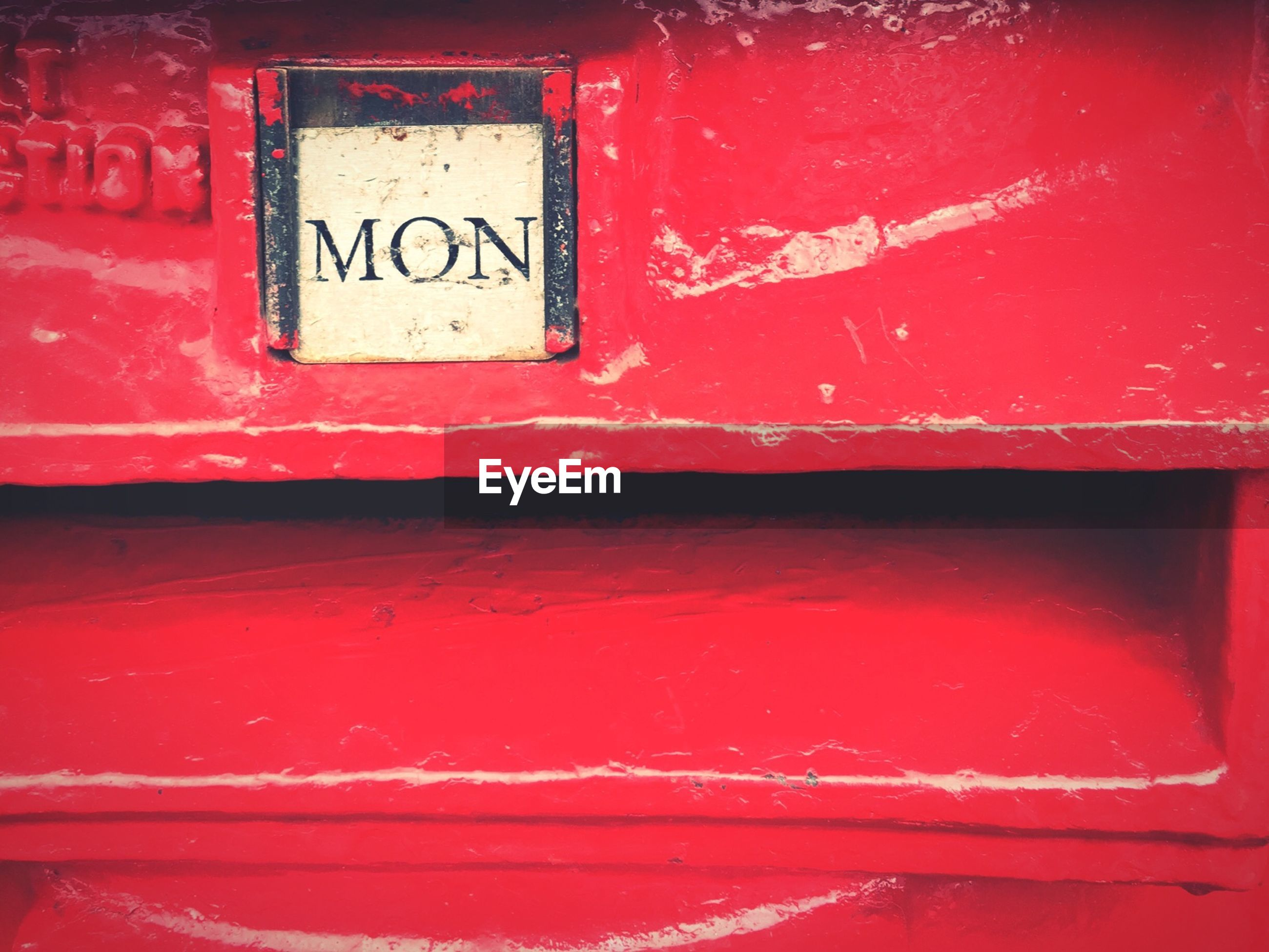 Extreme close up of mailbox