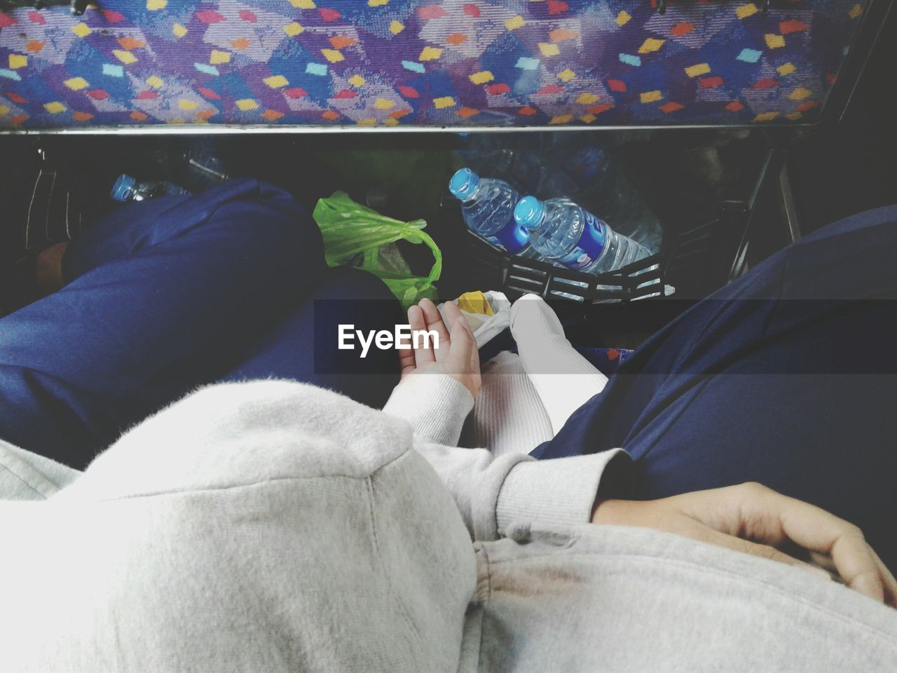 People Sleeping While Traveling In Bus