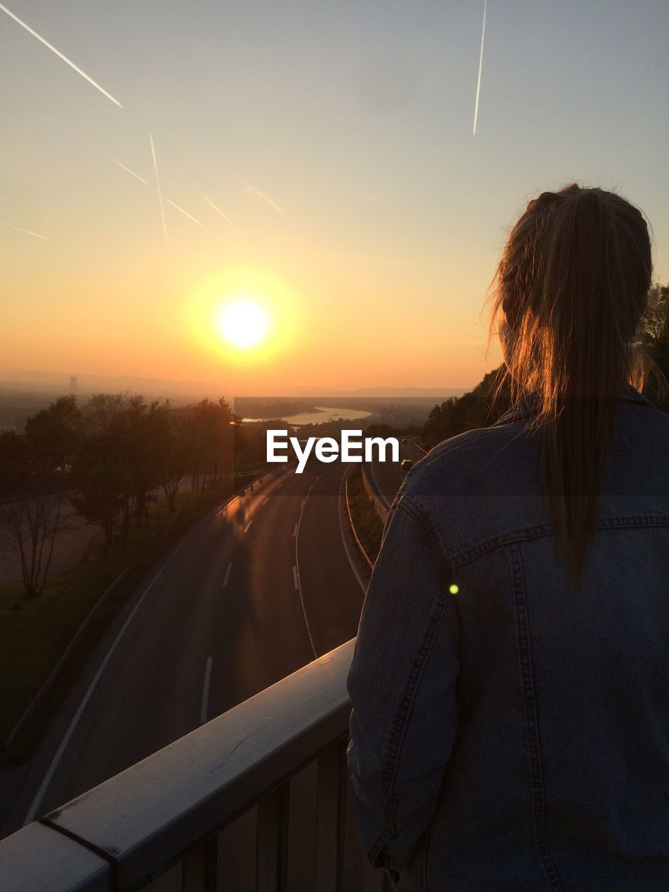 sunset, real people, one person, transportation, rear view, mode of transport, leisure activity, nature, travel, lifestyles, journey, outdoors, sky, road, women, beauty in nature, day, people