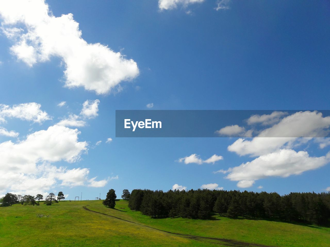 sky, cloud - sky, tree, landscape, nature, grass, tranquility, beauty in nature, day, field, scenics, growth, real people, men, outdoors, one person, people