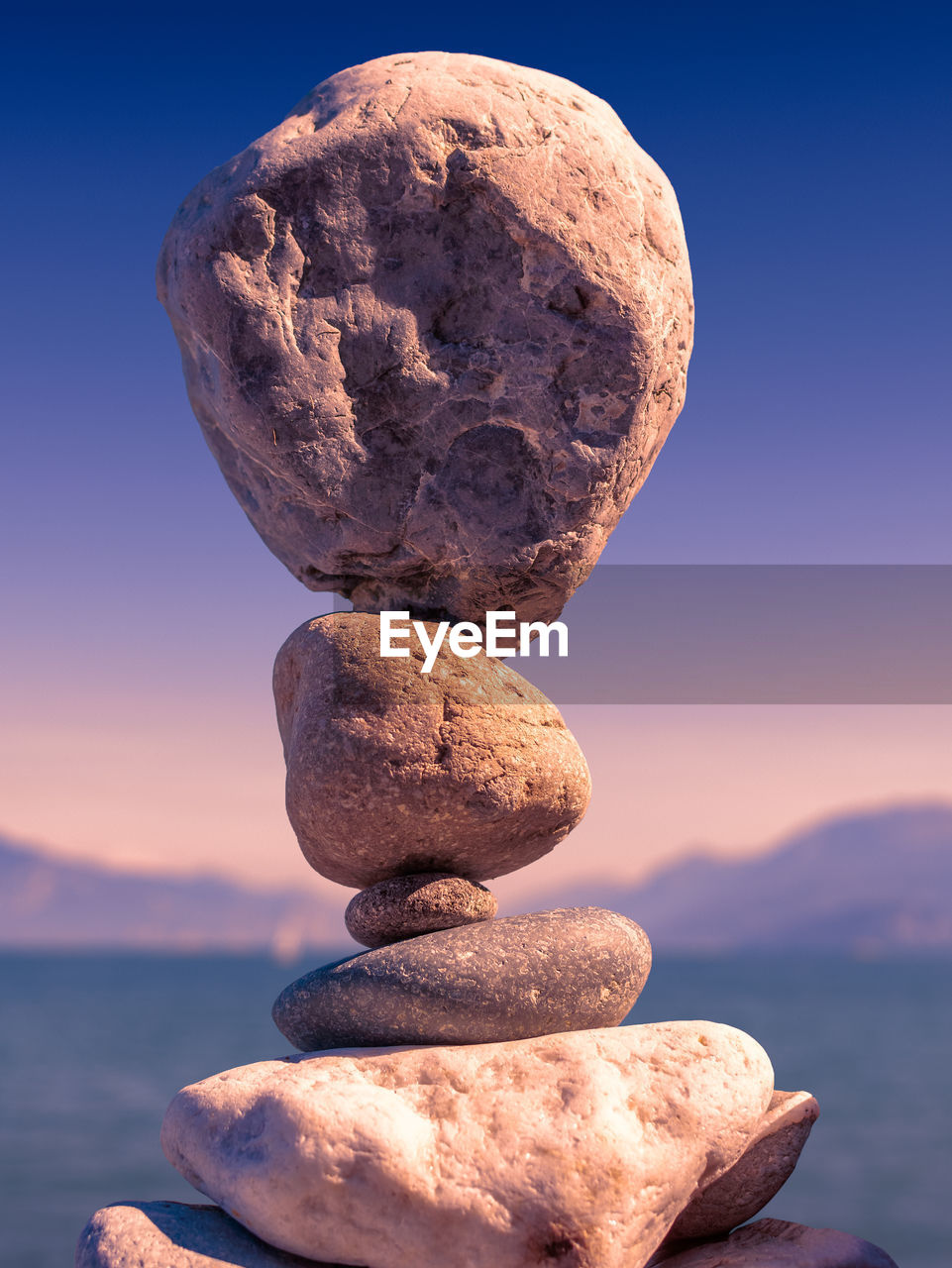 rock, solid, sky, stack, balance, nature, sunset, rock - object, stone - object, water, no people, sea, scenics - nature, beauty in nature, tranquil scene, tranquility, close-up, stone, zen-like, outdoors, stack rock, pebble