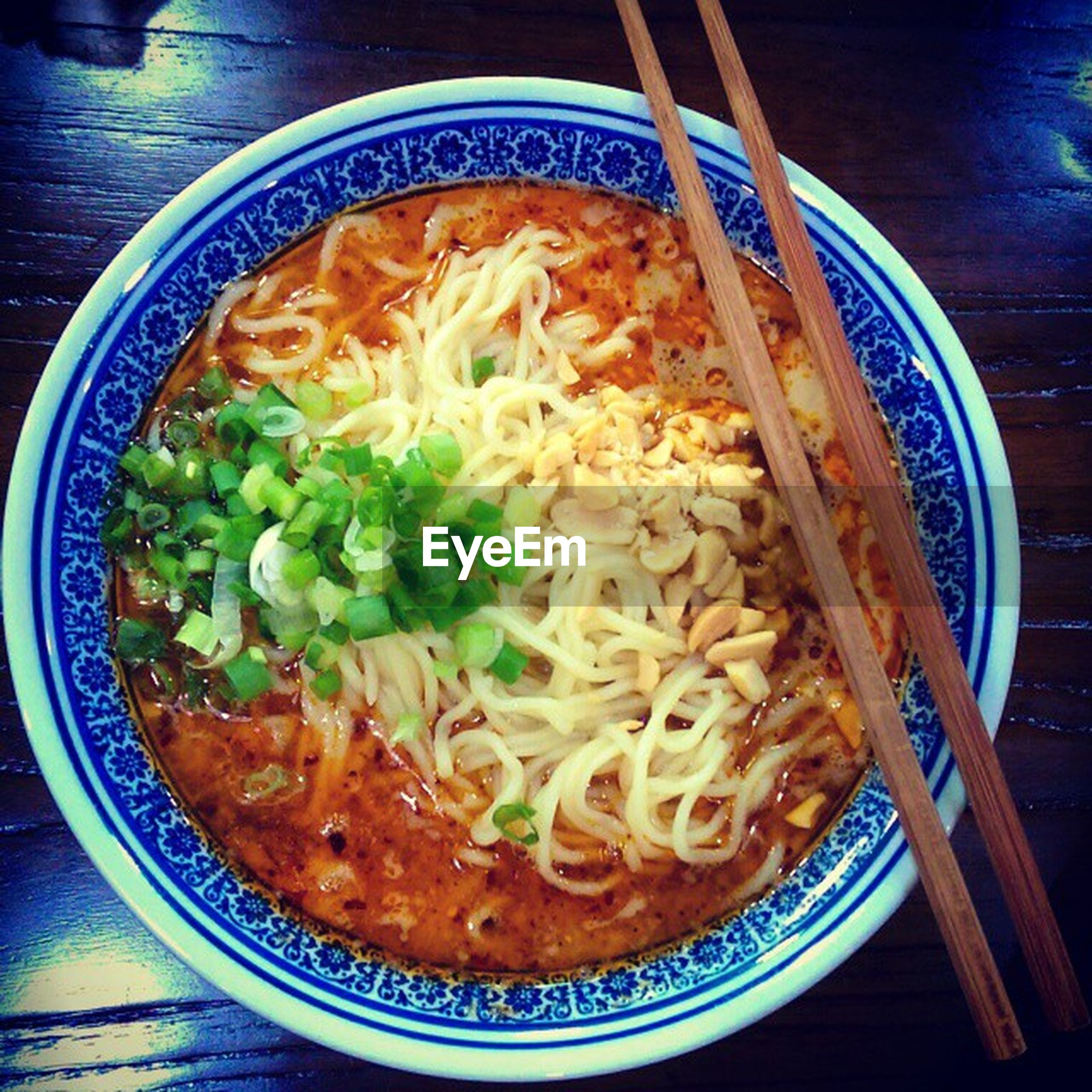food and drink, indoors, food, ready-to-eat, freshness, bowl, table, healthy eating, plate, meal, noodles, still life, serving size, high angle view, soup, directly above, close-up, vegetable, indulgence, served