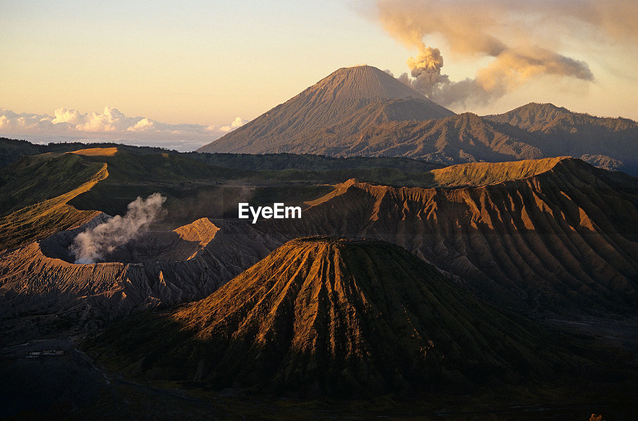 Scenic View Of Volcanic Crater At Bromo-Tengger-Semeru National Park