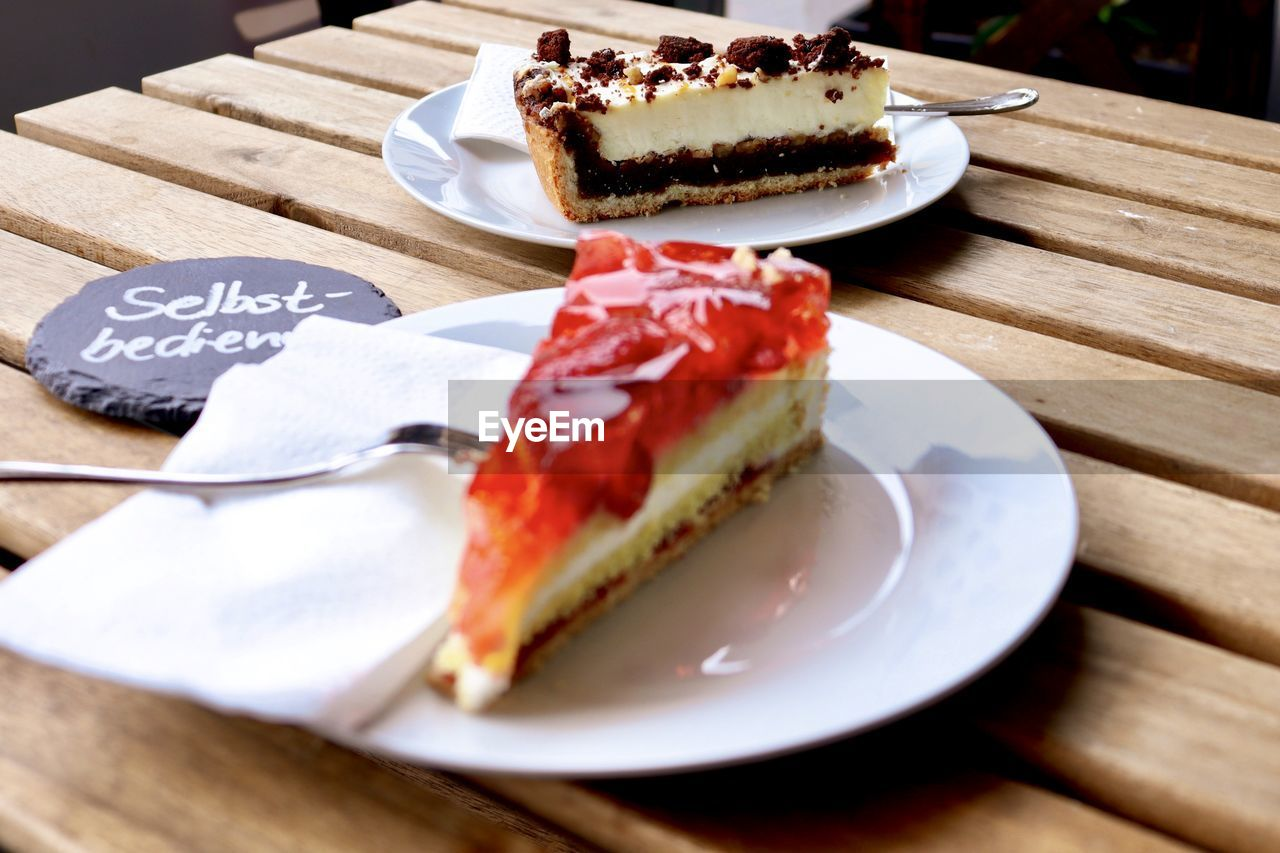 food, food and drink, plate, sweet food, freshness, dessert, indulgence, sweet, ready-to-eat, table, temptation, unhealthy eating, cake, still life, eating utensil, baked, slice, kitchen utensil, no people, close-up, slice of cake, garnish, breakfast