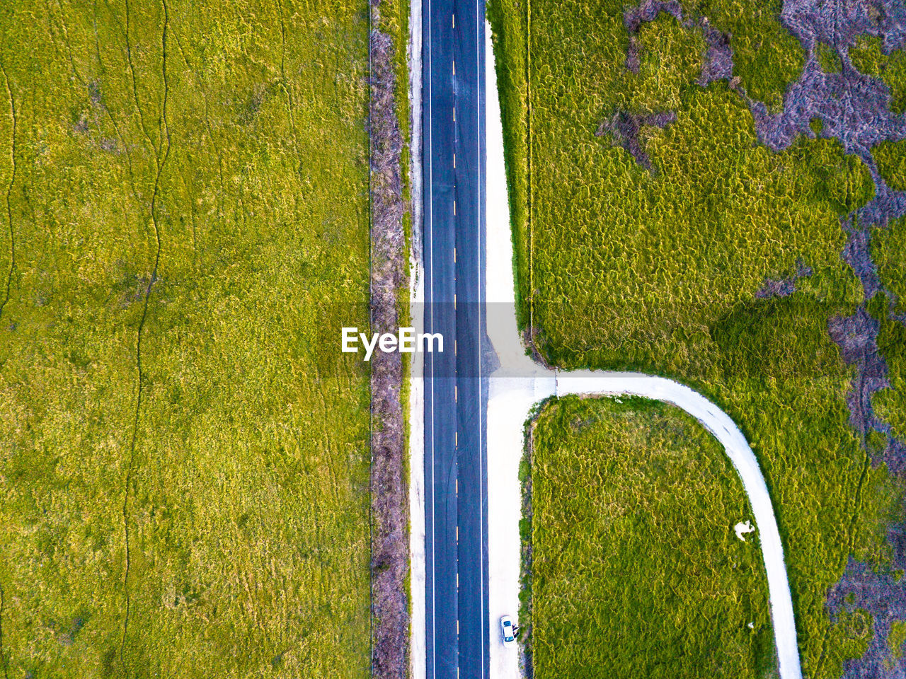 aerial view, green color, grass, nature, tranquil scene, no people, scenics, high angle view, tree, landscape, day, tranquility, outdoors, beauty in nature, growth, rural scene, water