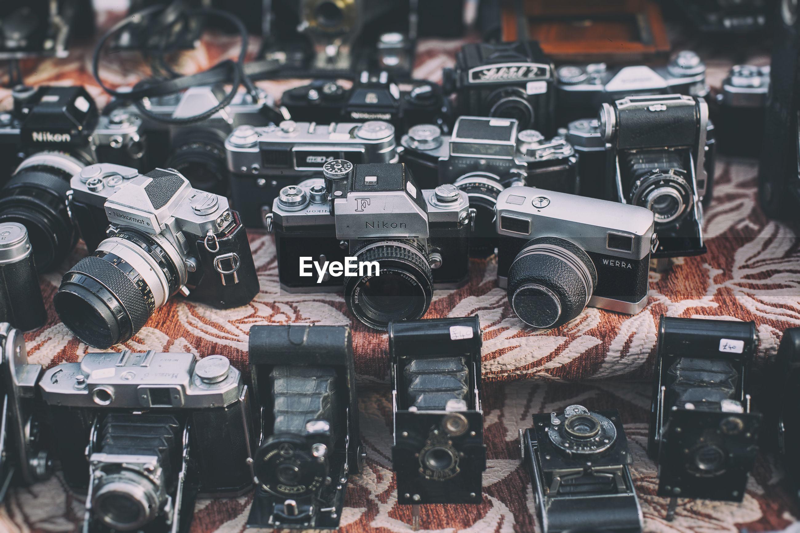 Close-up of vintage camera