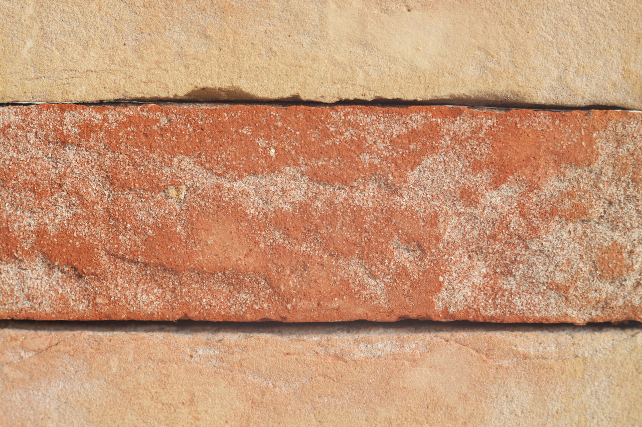 textured, backgrounds, full frame, wall - building feature, no people, wall, close-up, brick, architecture, rough, built structure, day, brick wall, pattern, brown, old, outdoors, weathered, orange color, building exterior, concrete, cement