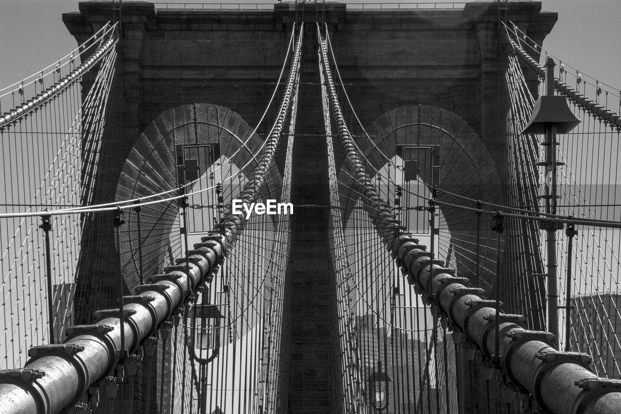 Architectural Detail Of Brooklyn Bridge