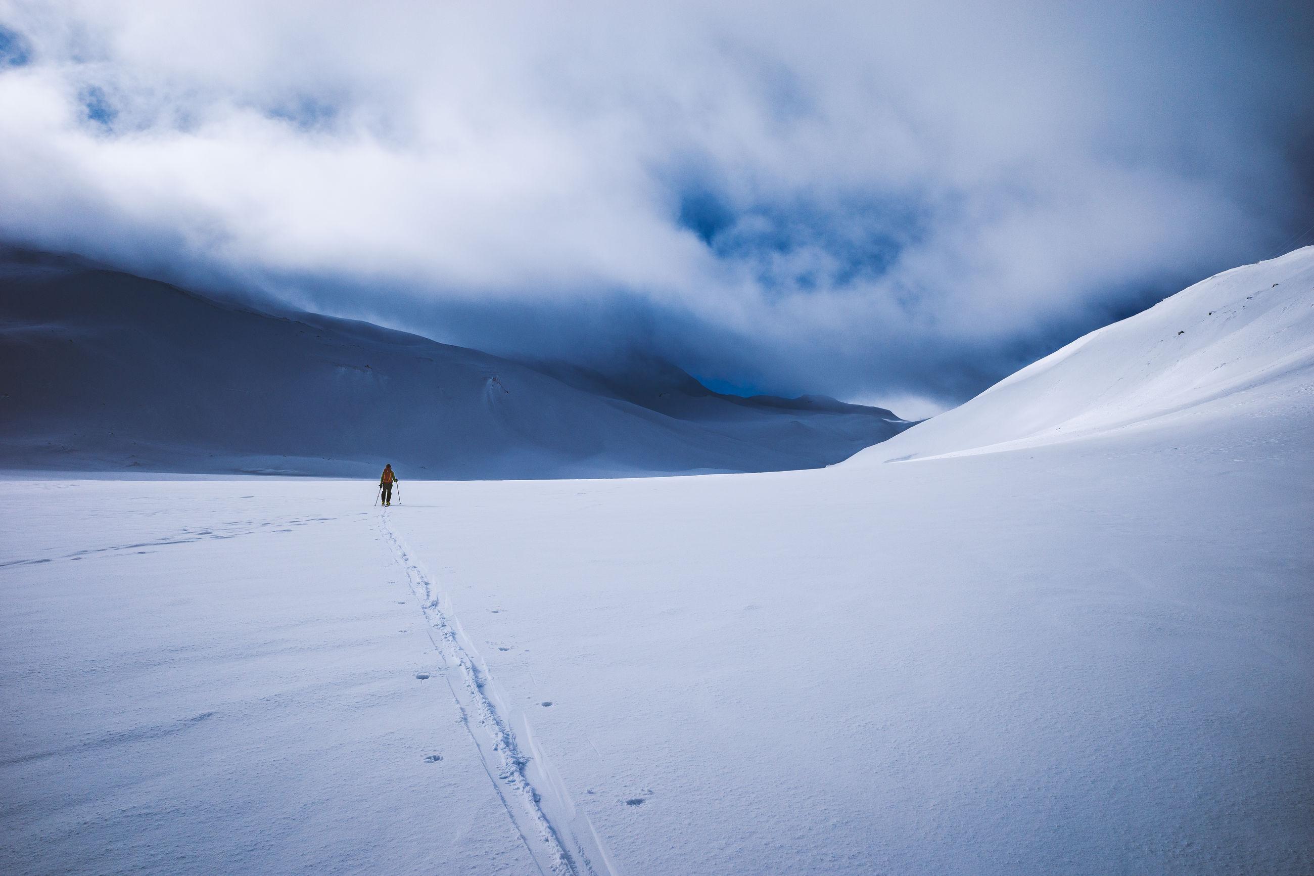 Skitour swiss alps