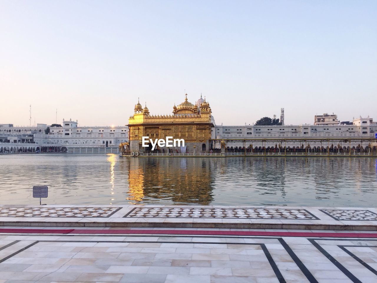 Golden temple against clear sky