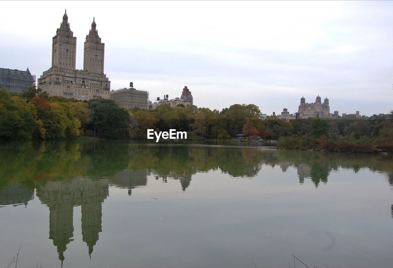 Reflection Of The Eldorado On Lake At Central Park