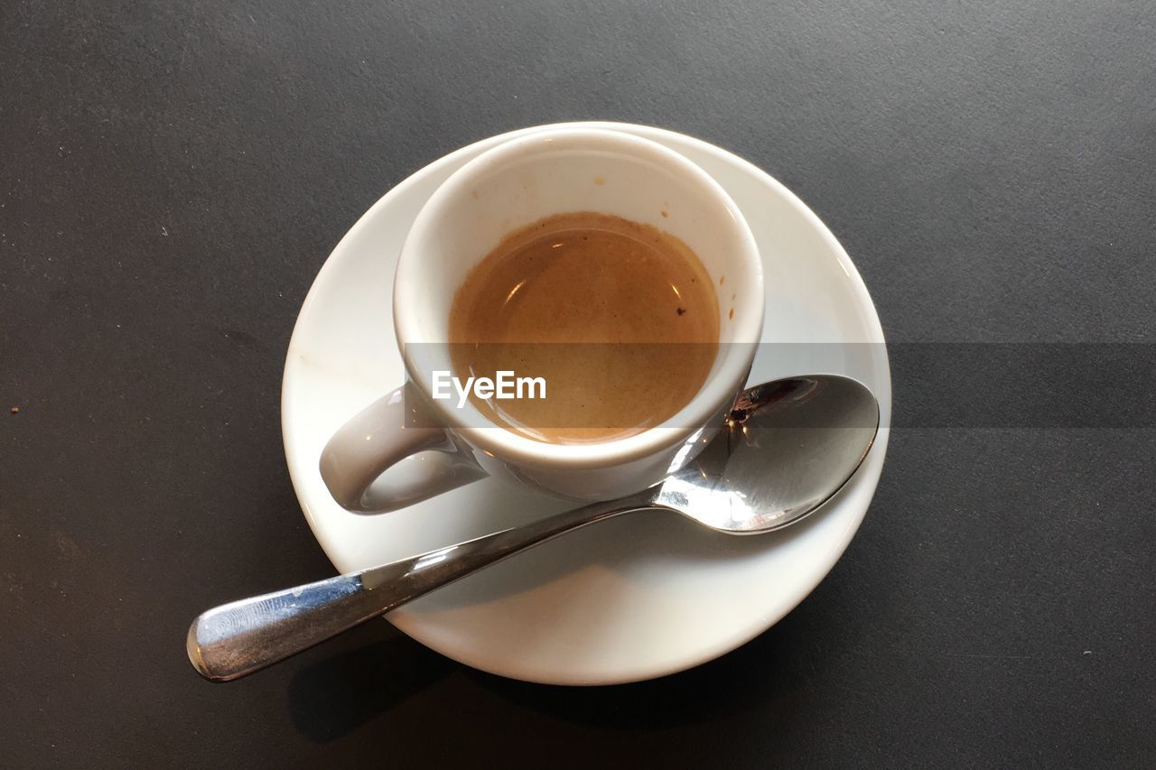 drink, food and drink, refreshment, saucer, high angle view, table, coffee cup, no people, freshness, close-up, indoors, food, day