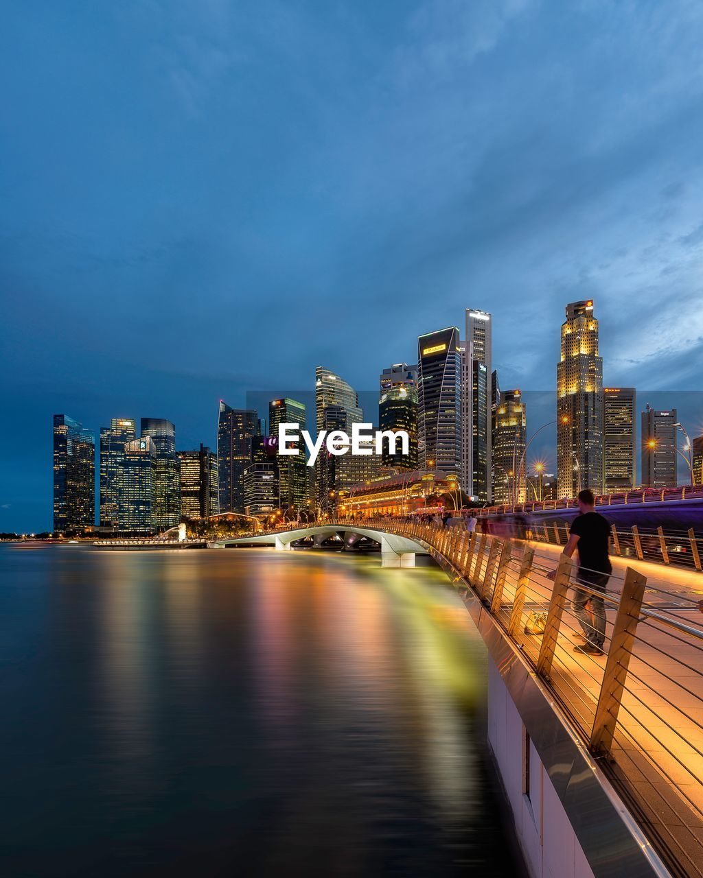 architecture, building exterior, built structure, city, water, sky, building, illuminated, cloud - sky, waterfront, nature, cityscape, river, no people, transportation, urban skyline, office building exterior, reflection, landscape, tall - high, outdoors, skyscraper, modern