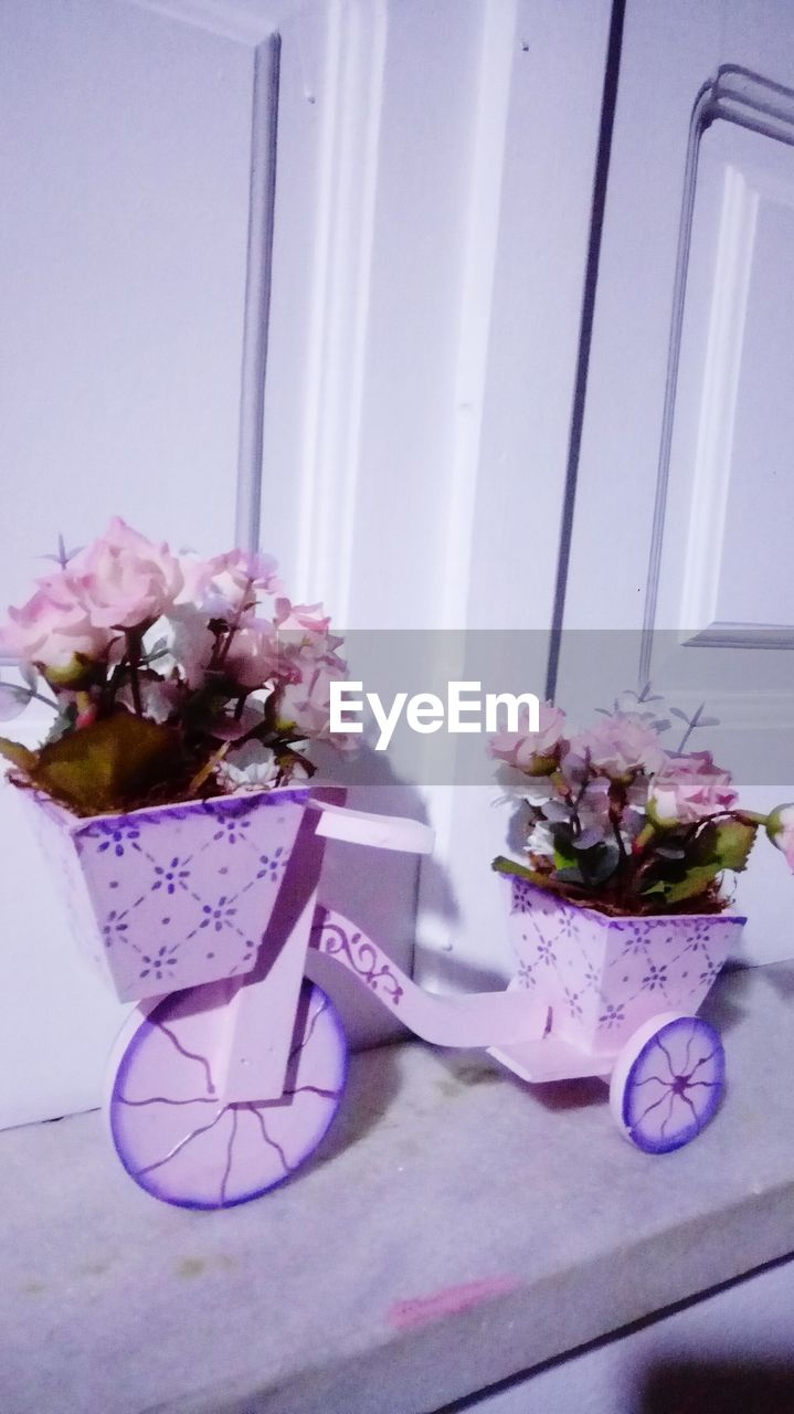 flower, flowering plant, plant, freshness, no people, table, nature, indoors, beauty in nature, vase, decoration, pink color, vulnerability, fragility, still life, petal, container, flower arrangement, day, close-up, flower head, bouquet, bunch of flowers, purple