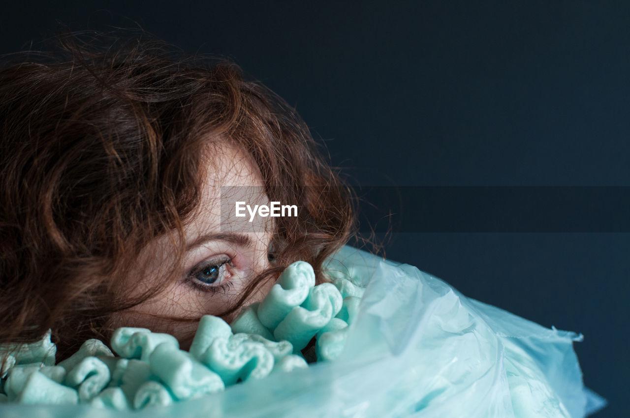 Close-Up Of Woman At Night