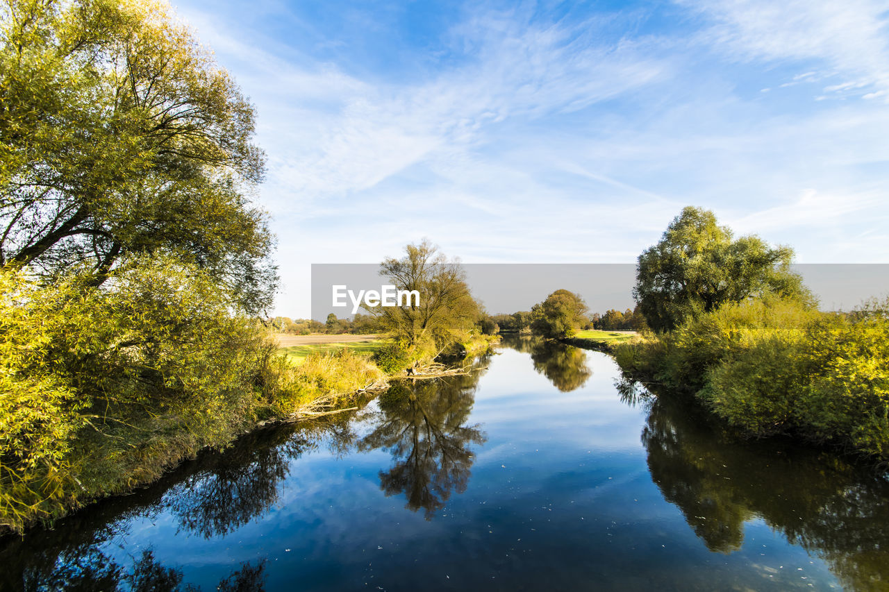 tree, sky, beauty in nature, tranquil scene, nature, water, tranquility, scenics, no people, reflection, river, day, outdoors, growth, cloud - sky