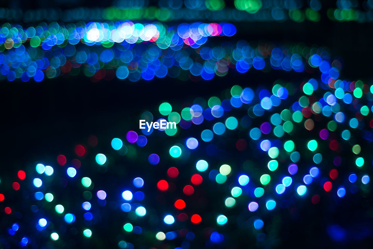 illuminated, lighting equipment, night, glowing, no people, multi colored, electricity, light effect, defocused, celebration, close-up, outdoors, christmas decoration