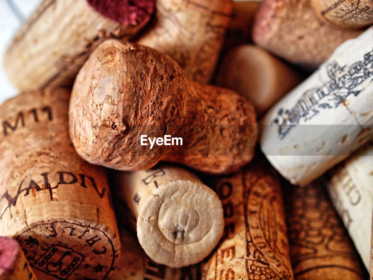 Detail shot of wine corks