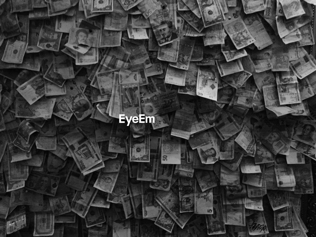 Full Frame Shot Of Various Banknotes