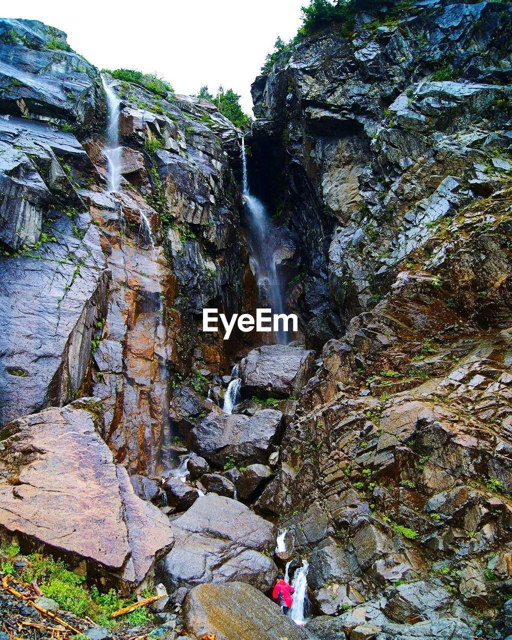 waterfall, rock - object, rock formation, water, nature, scenics, outdoors, motion, beauty in nature, day, river, no people, cliff, power in nature, sky