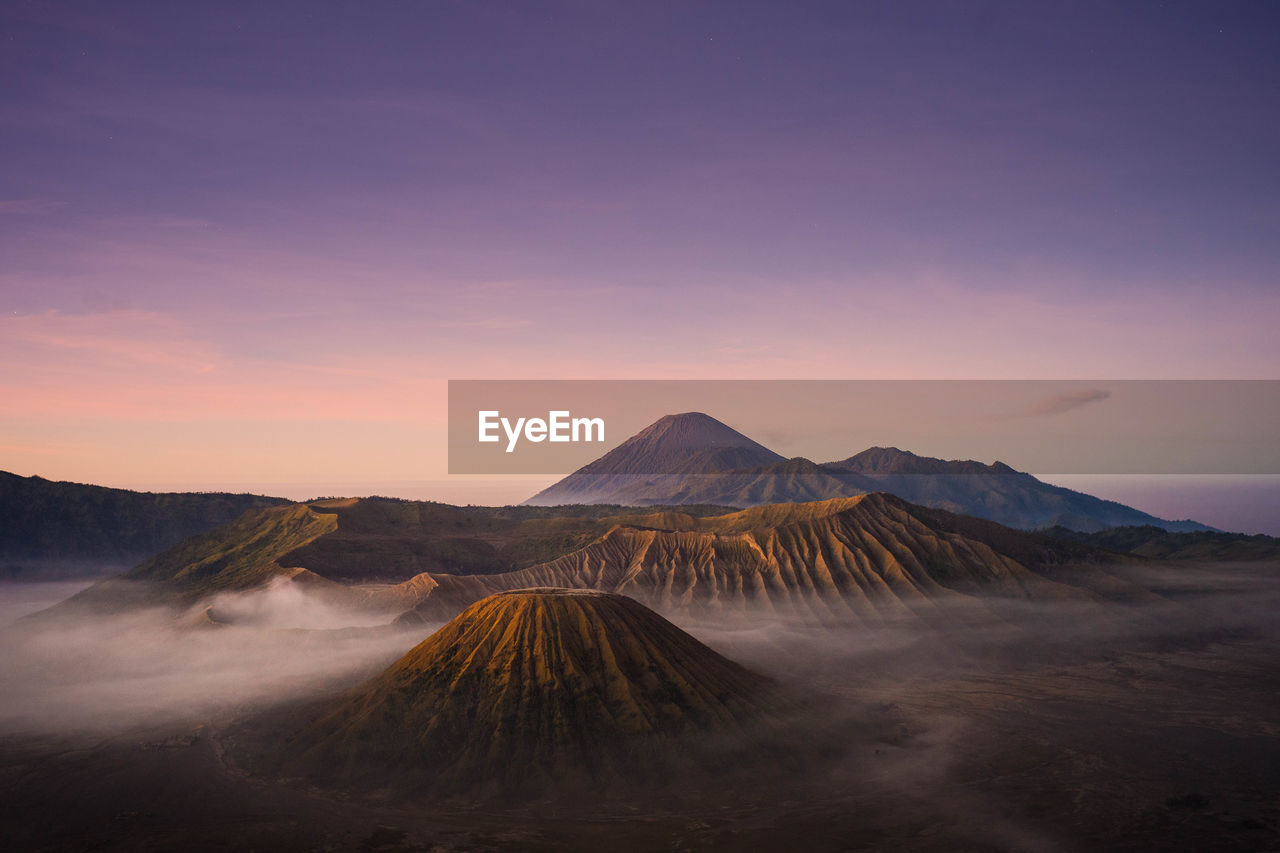 scenics - nature, sky, mountain, beauty in nature, volcano, tranquil scene, sunset, non-urban scene, tranquility, landscape, geology, environment, idyllic, nature, no people, physical geography, land, travel destinations, outdoors, remote, volcanic crater, power in nature