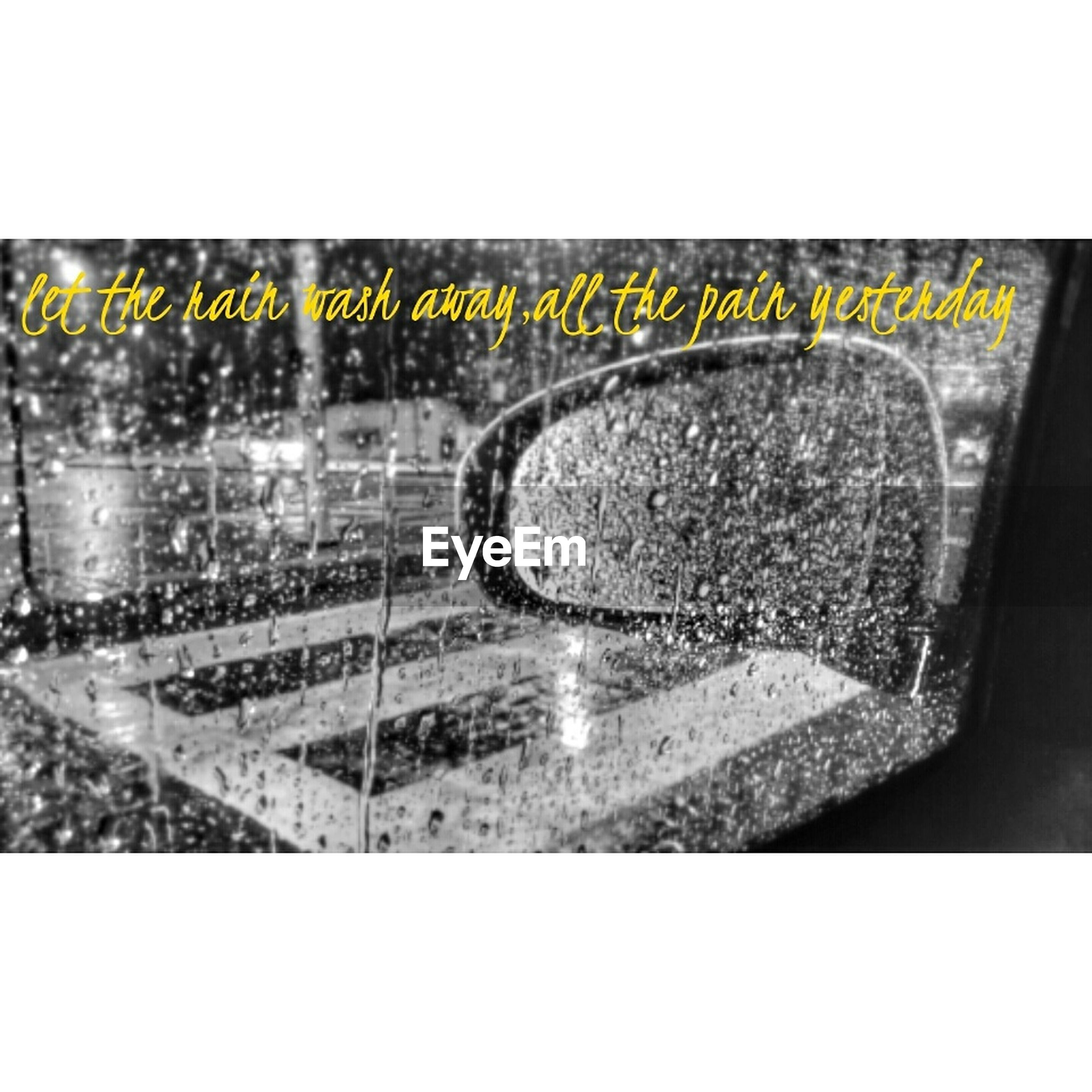 transfer print, auto post production filter, glass - material, indoors, close-up, transparent, text, pattern, wet, water, window, metal, built structure, no people, communication, architecture, transportation, reflection, geometric shape, design