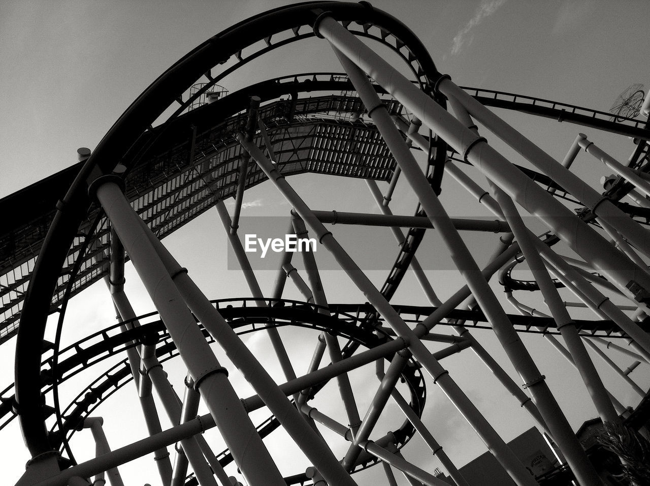 Low Angle View Of Amusement Ride