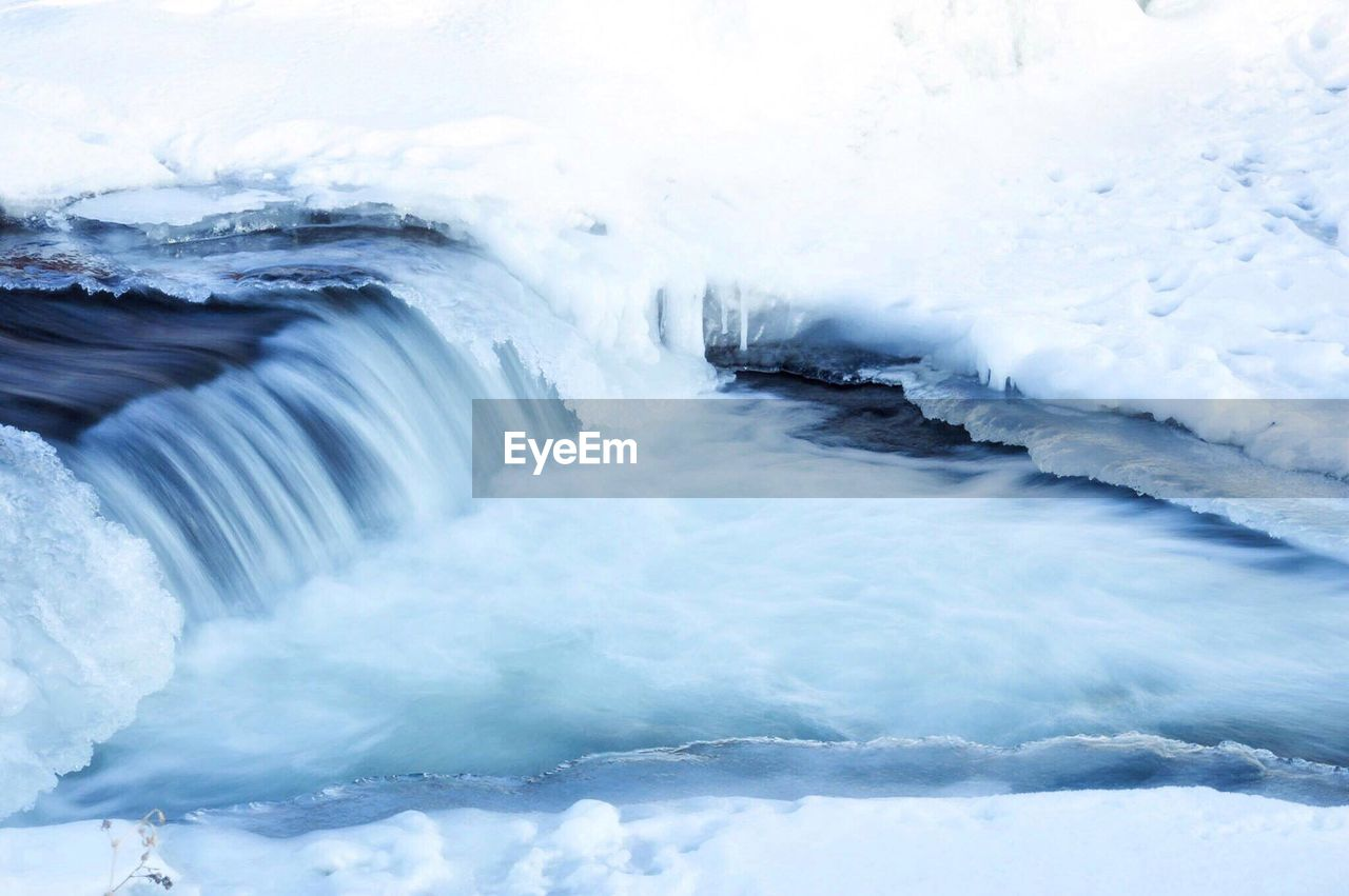 beauty in nature, nature, ice, water, motion, no people, sea, outdoors, winter, scenics, power in nature, day, wave, iceberg, sky
