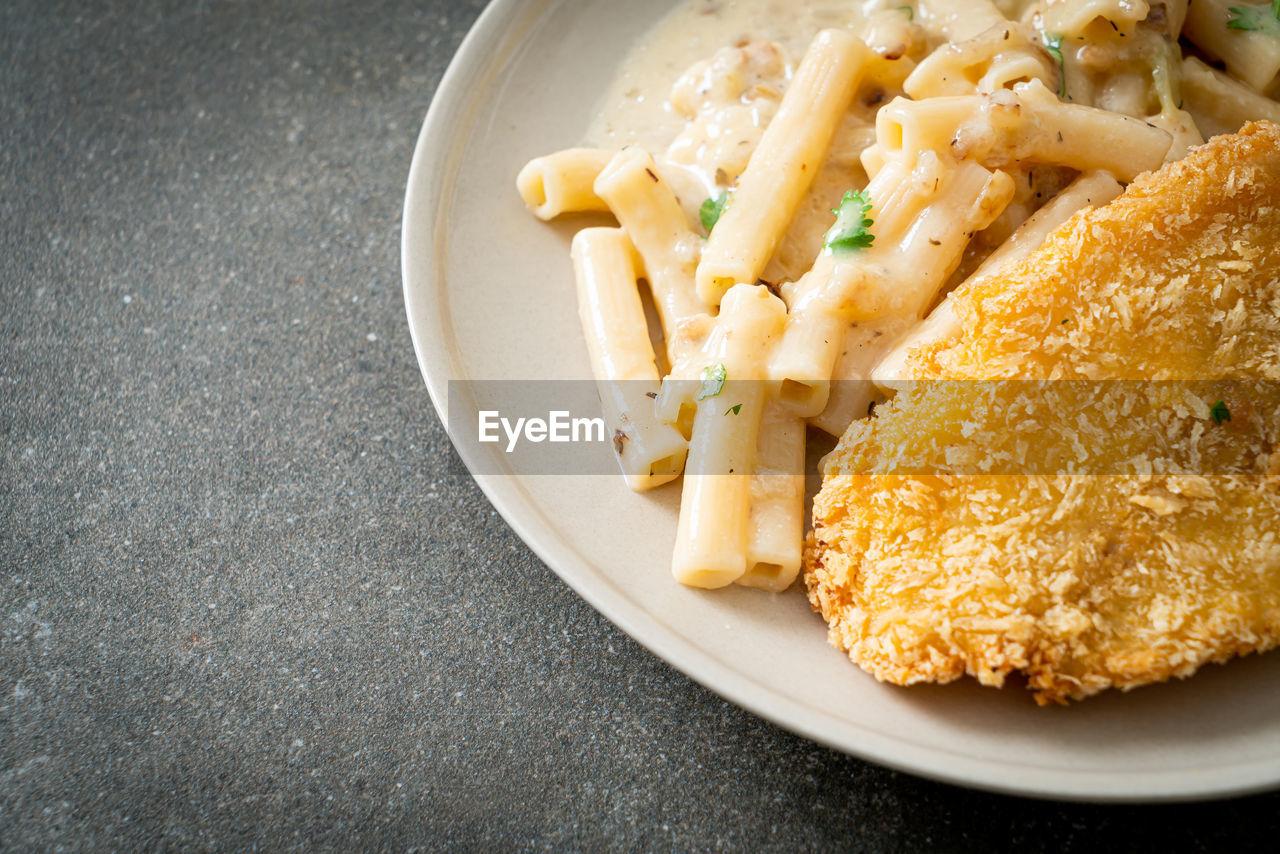 HIGH ANGLE VIEW OF MEAL