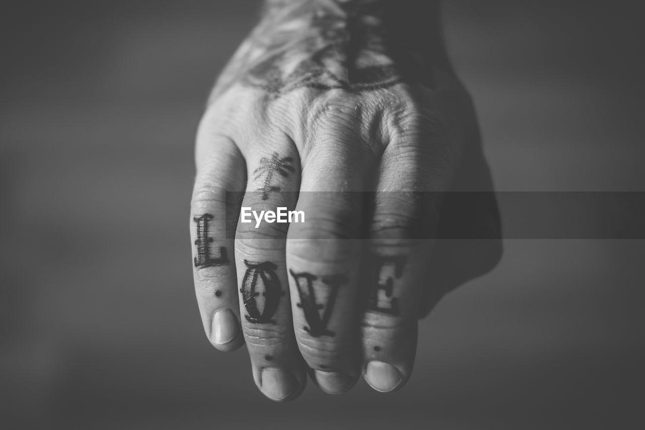 Close-Up Of Tattooed Hand