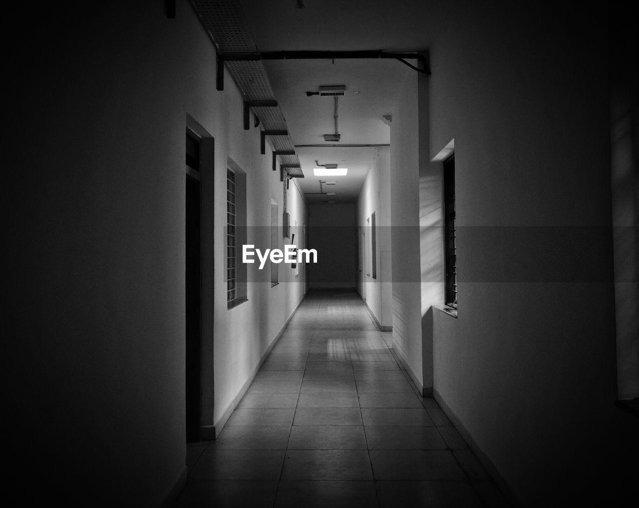 indoors, corridor, the way forward, empty, door, illuminated, architecture, no people, day