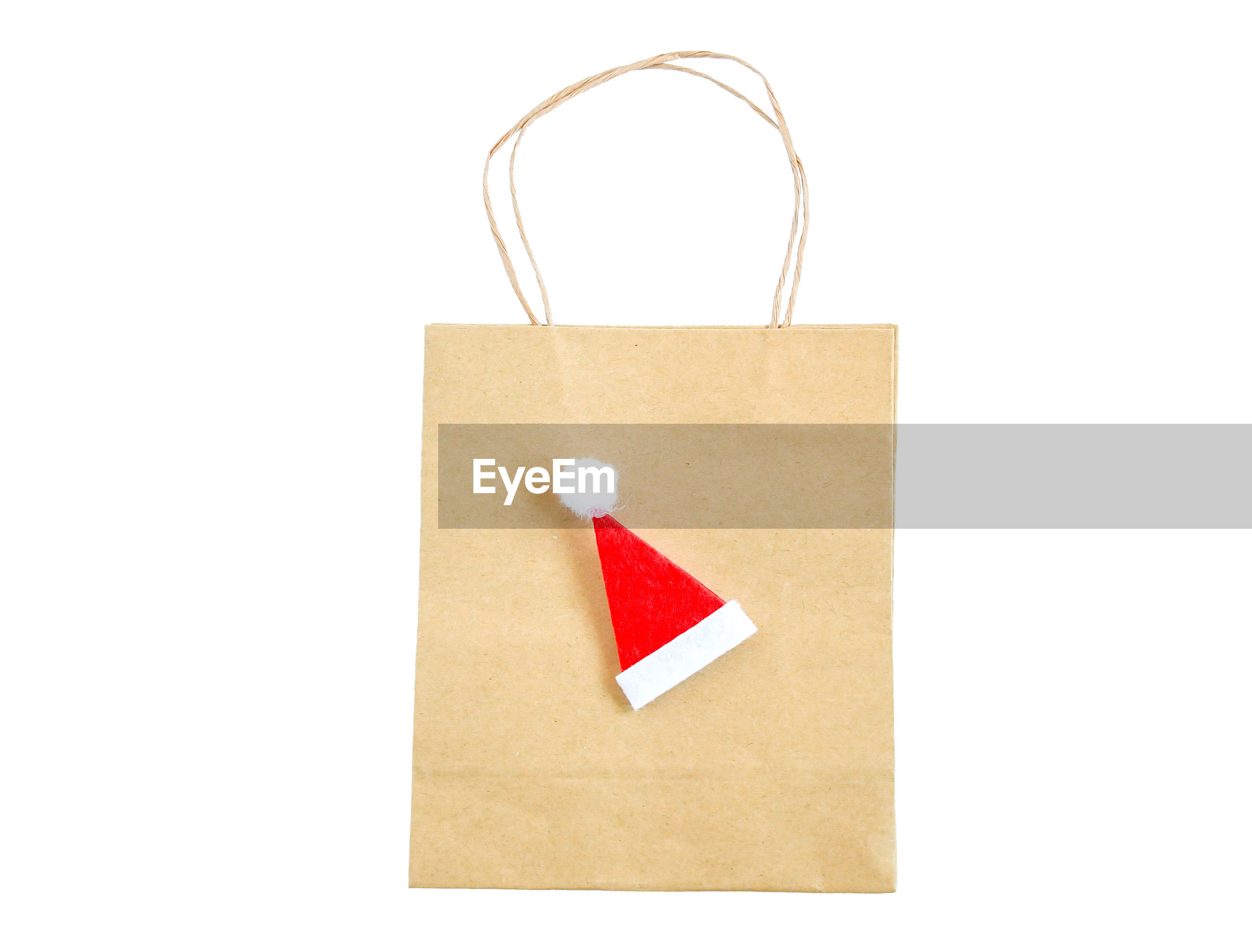 Close-up of paper bags against white background