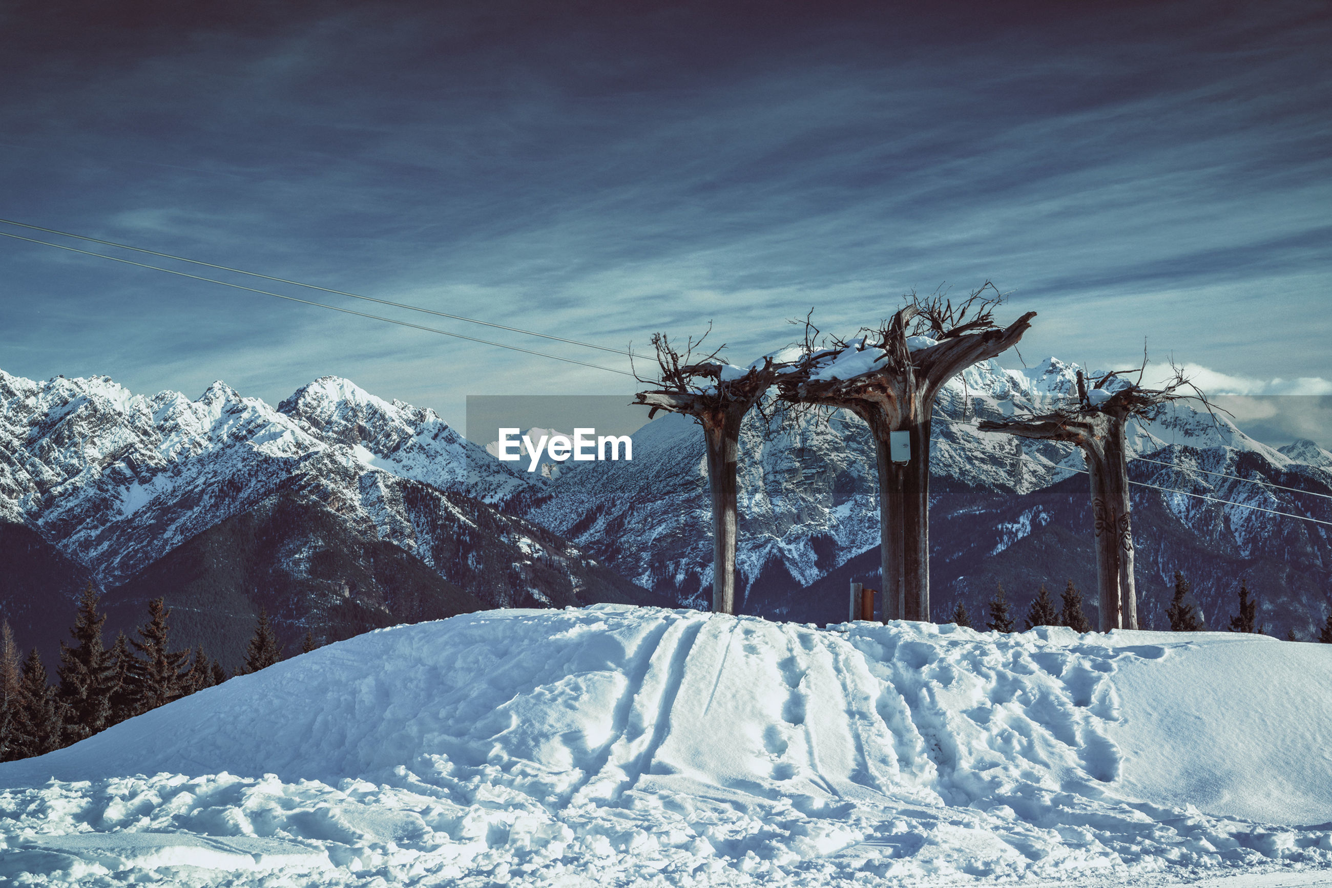 snow, winter, cold temperature, weather, nature, sky, beauty in nature, no people, day, scenics, mountain, outdoors, landscape, tree