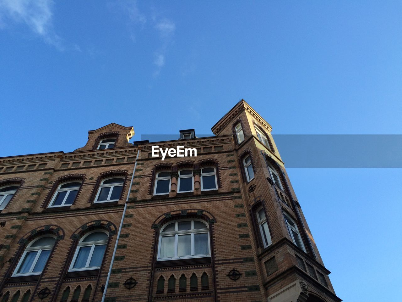 low angle view, architecture, building exterior, built structure, day, blue, outdoors, history, no people, clear sky, sky