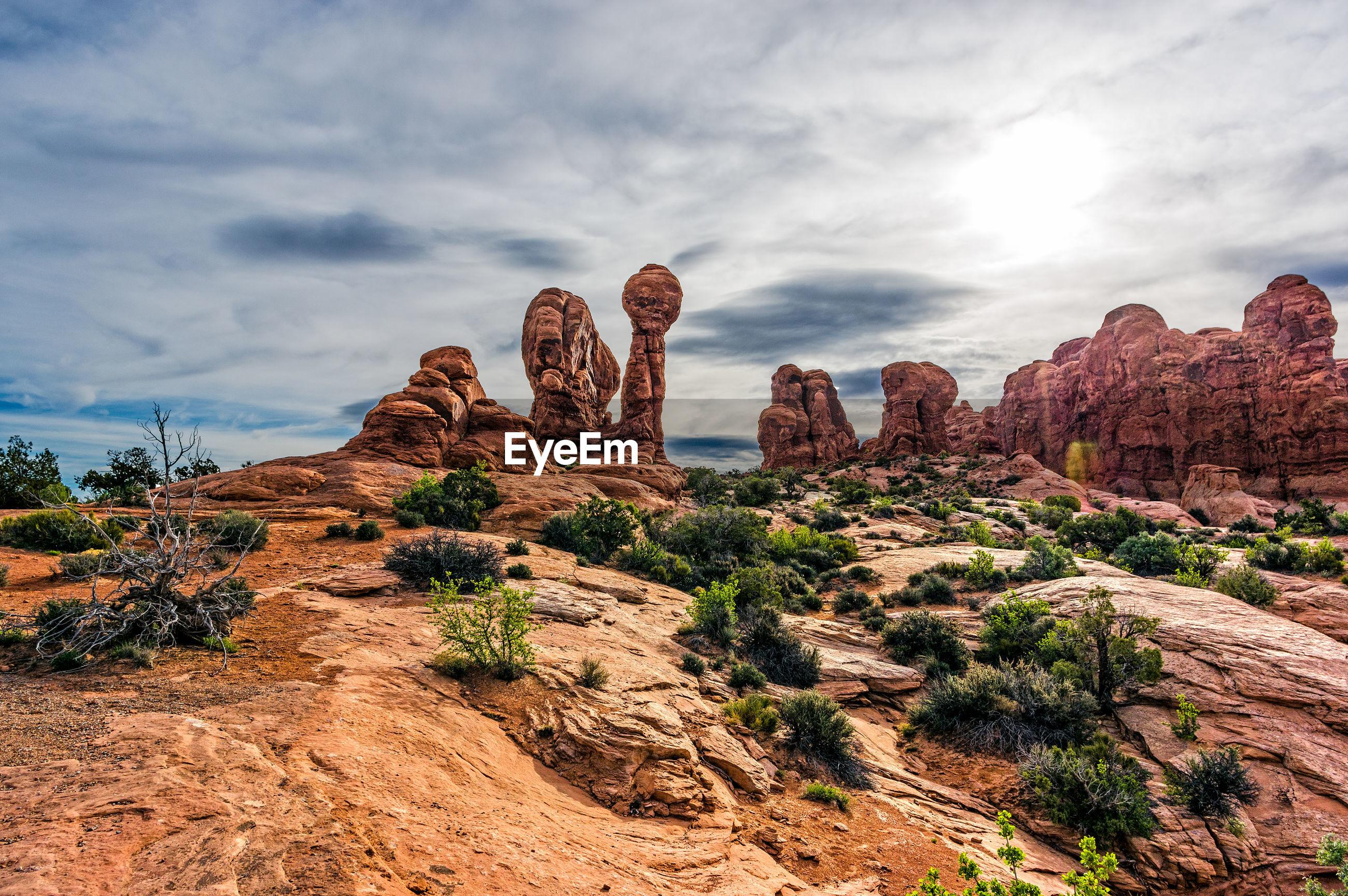 Old rock formations in utah