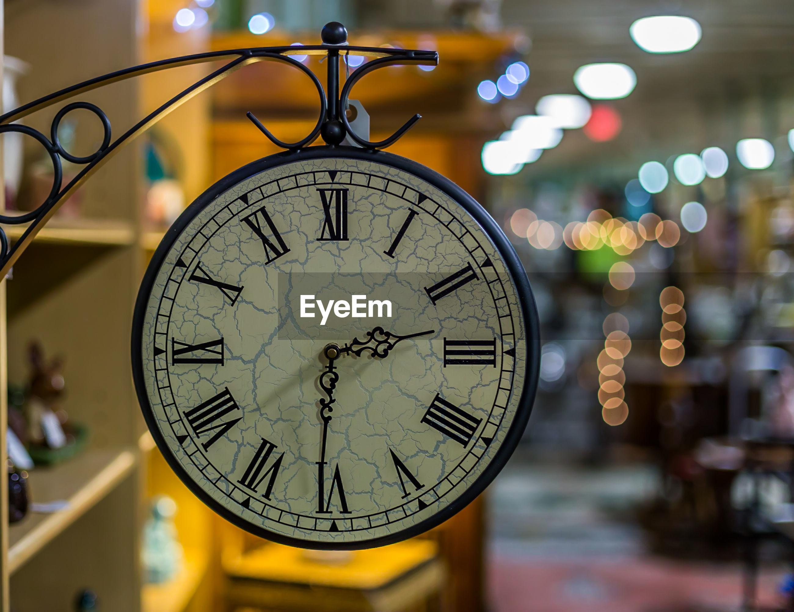Close-up of antique clock