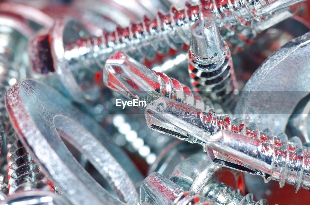 Close-Up Of Metal Screws