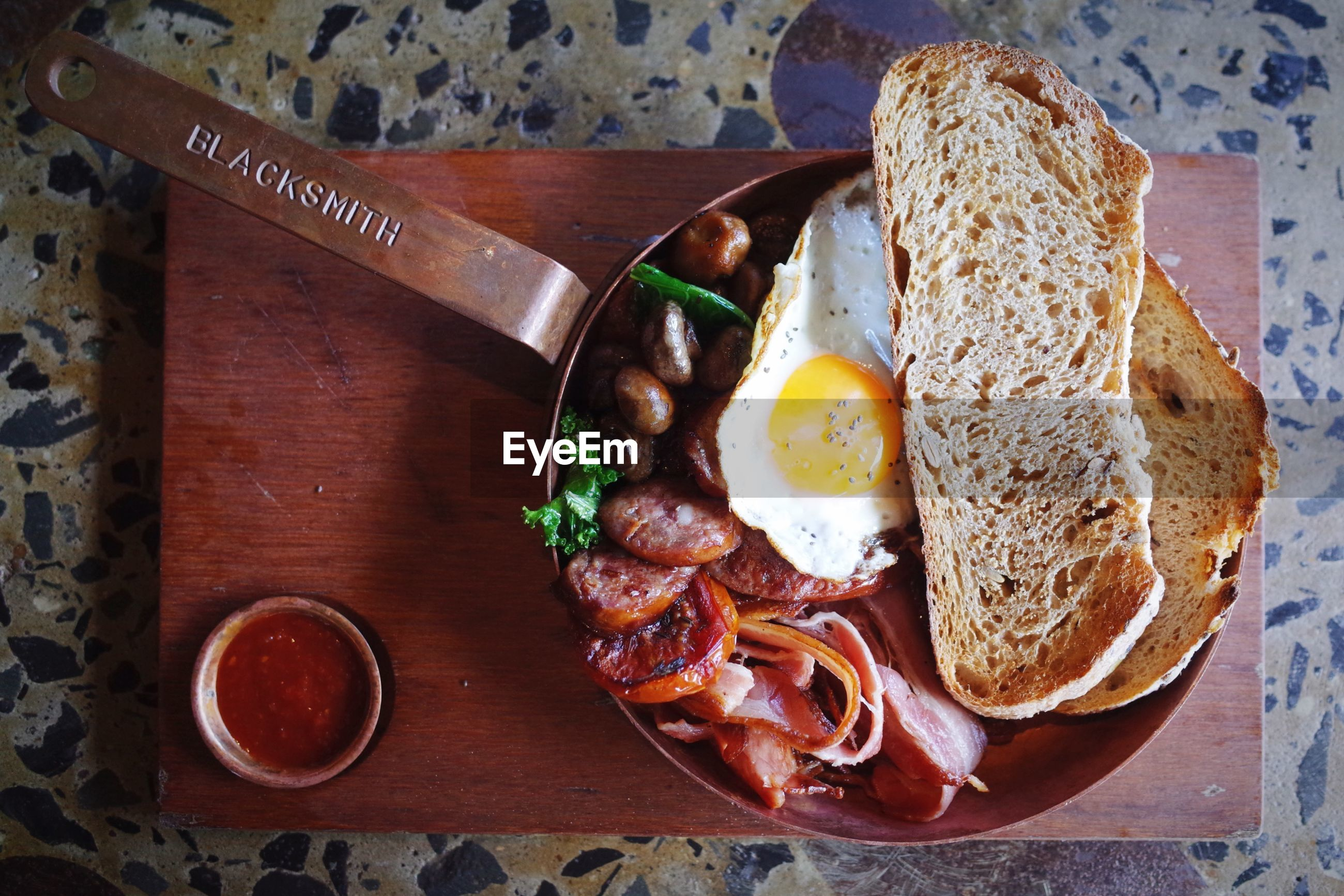 food and drink, food, freshness, still life, ready-to-eat, indoors, table, healthy eating, plate, serving size, high angle view, bread, indulgence, close-up, meal, drink, breakfast, refreshment, temptation