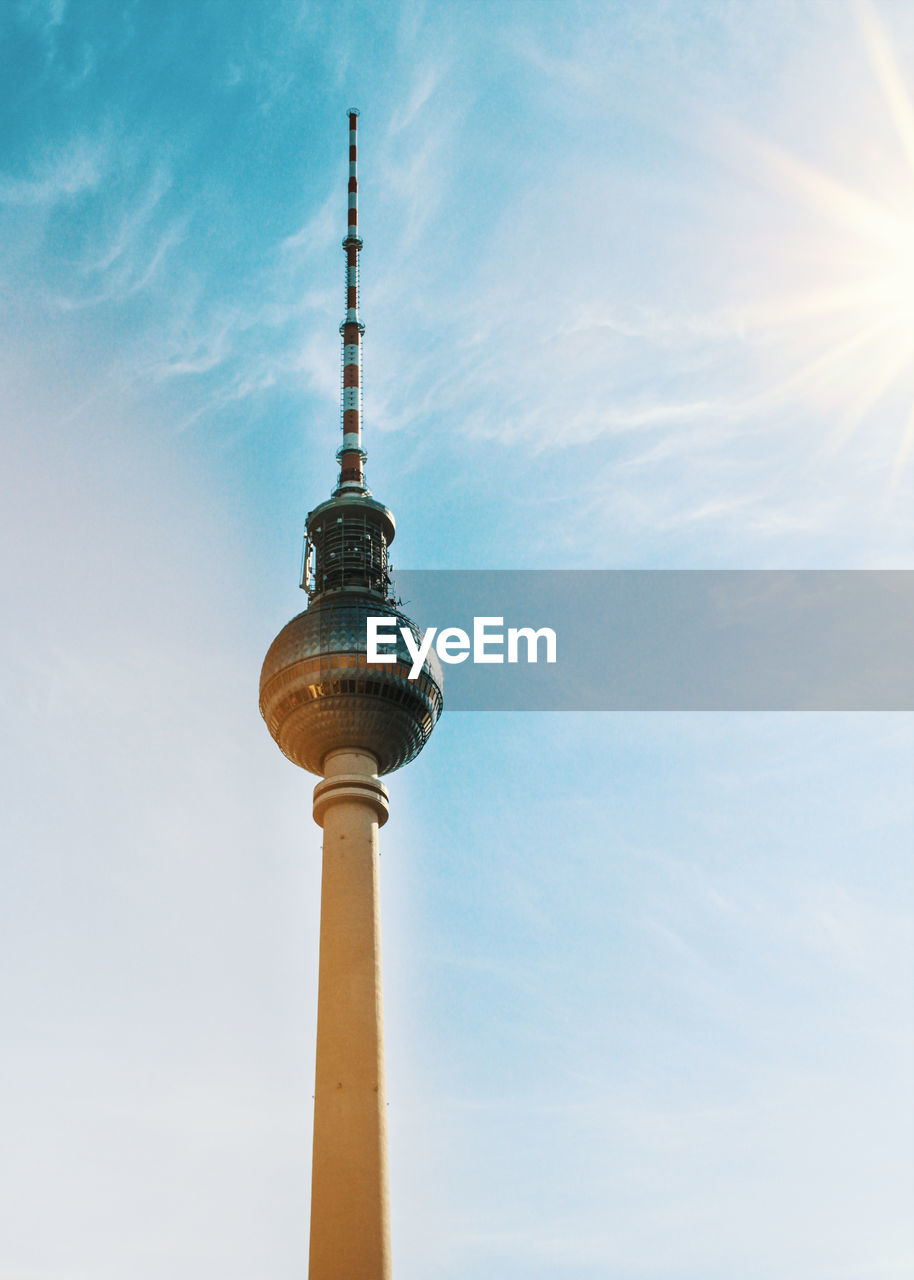 Low Angle View Of Fernsehturm Against Sky