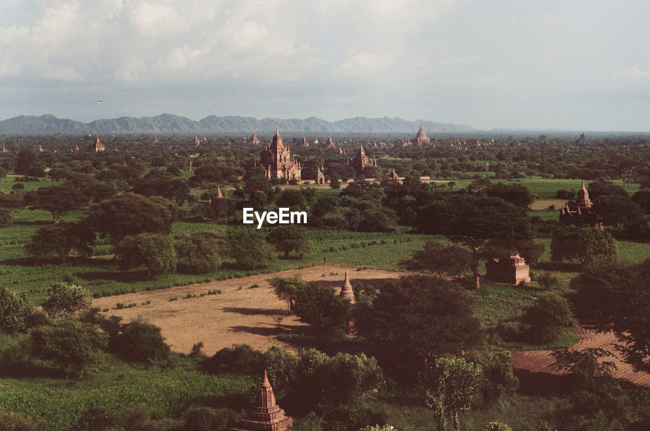 Historic Temples On Landscape Against Sky In City