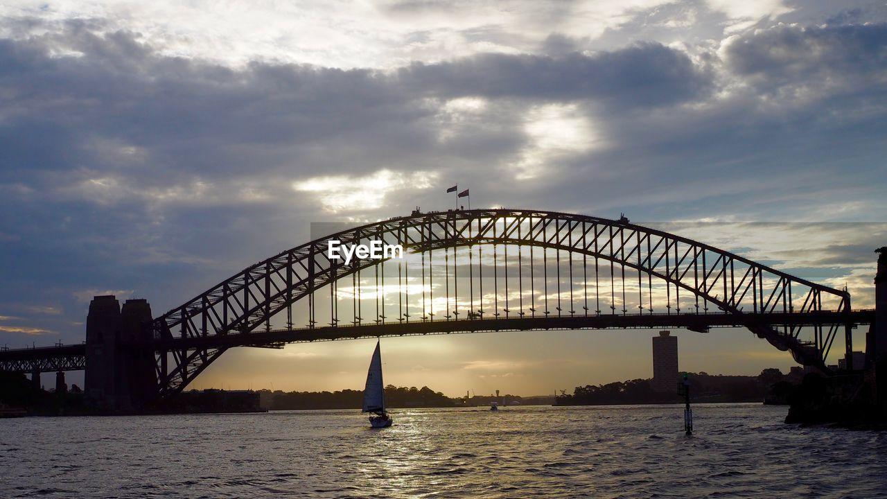 VIEW OF BRIDGE OVER WATER AGAINST SKY