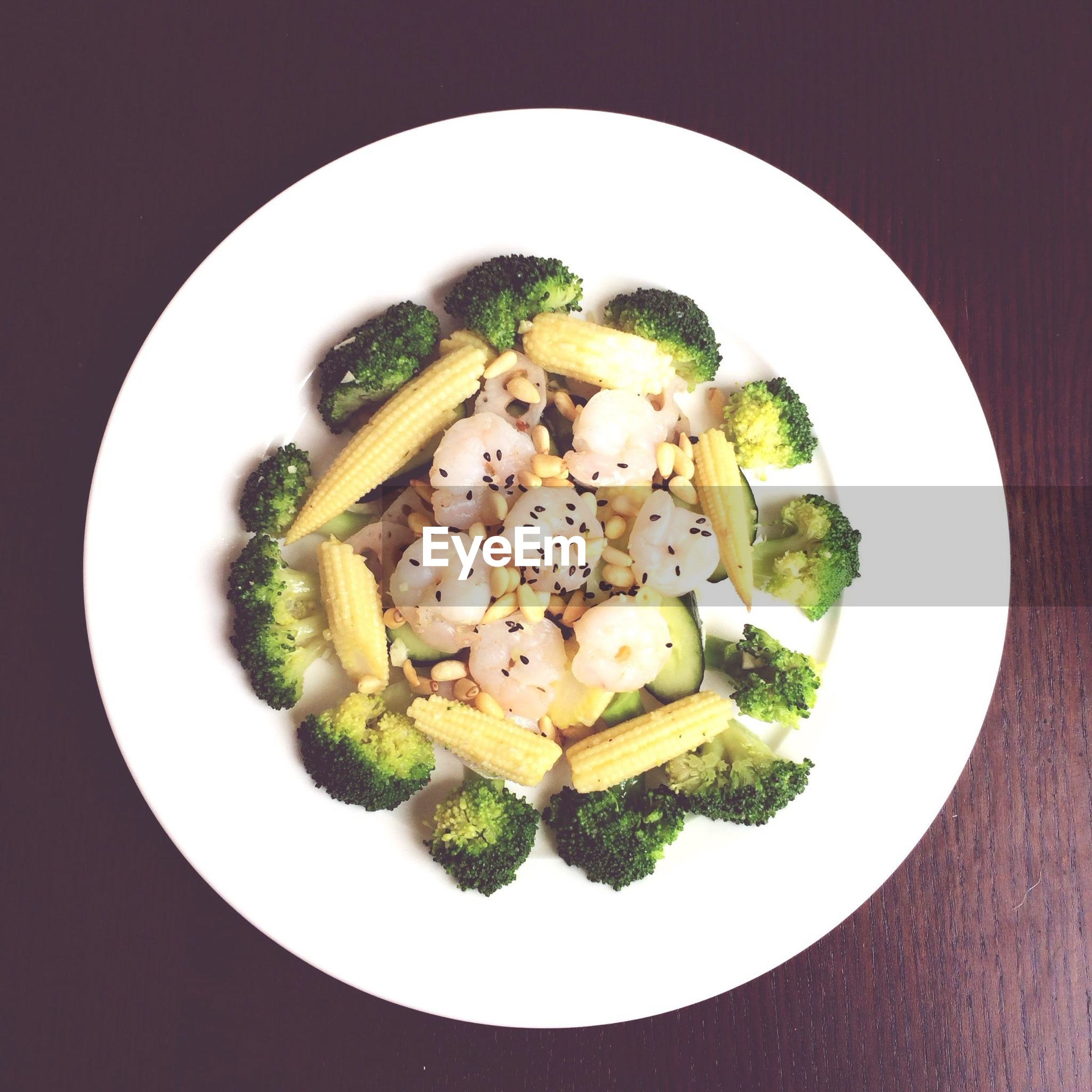 food and drink, food, ready-to-eat, freshness, indoors, plate, healthy eating, meal, serving size, still life, high angle view, table, vegetable, meat, close-up, bowl, salad, directly above, served, indulgence