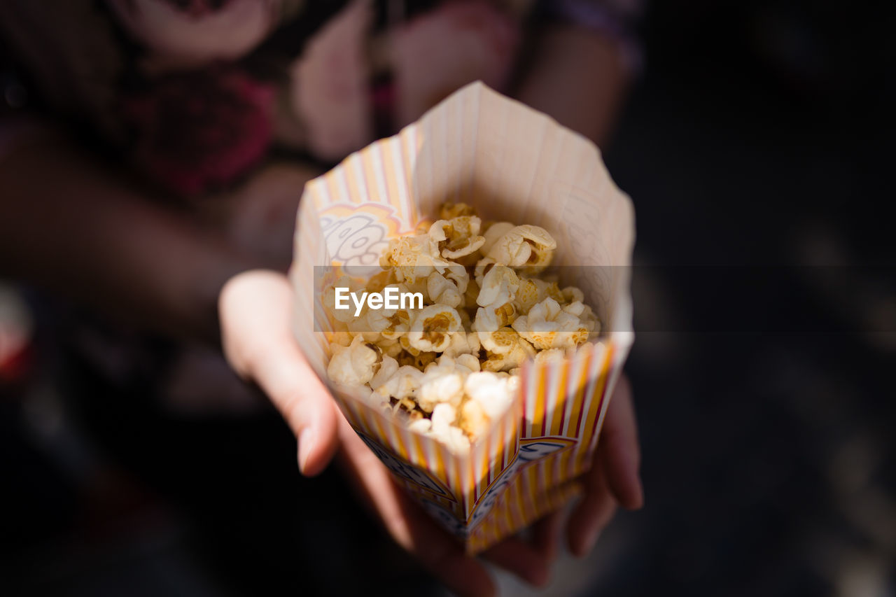 Close-Up Of Popcorn Package