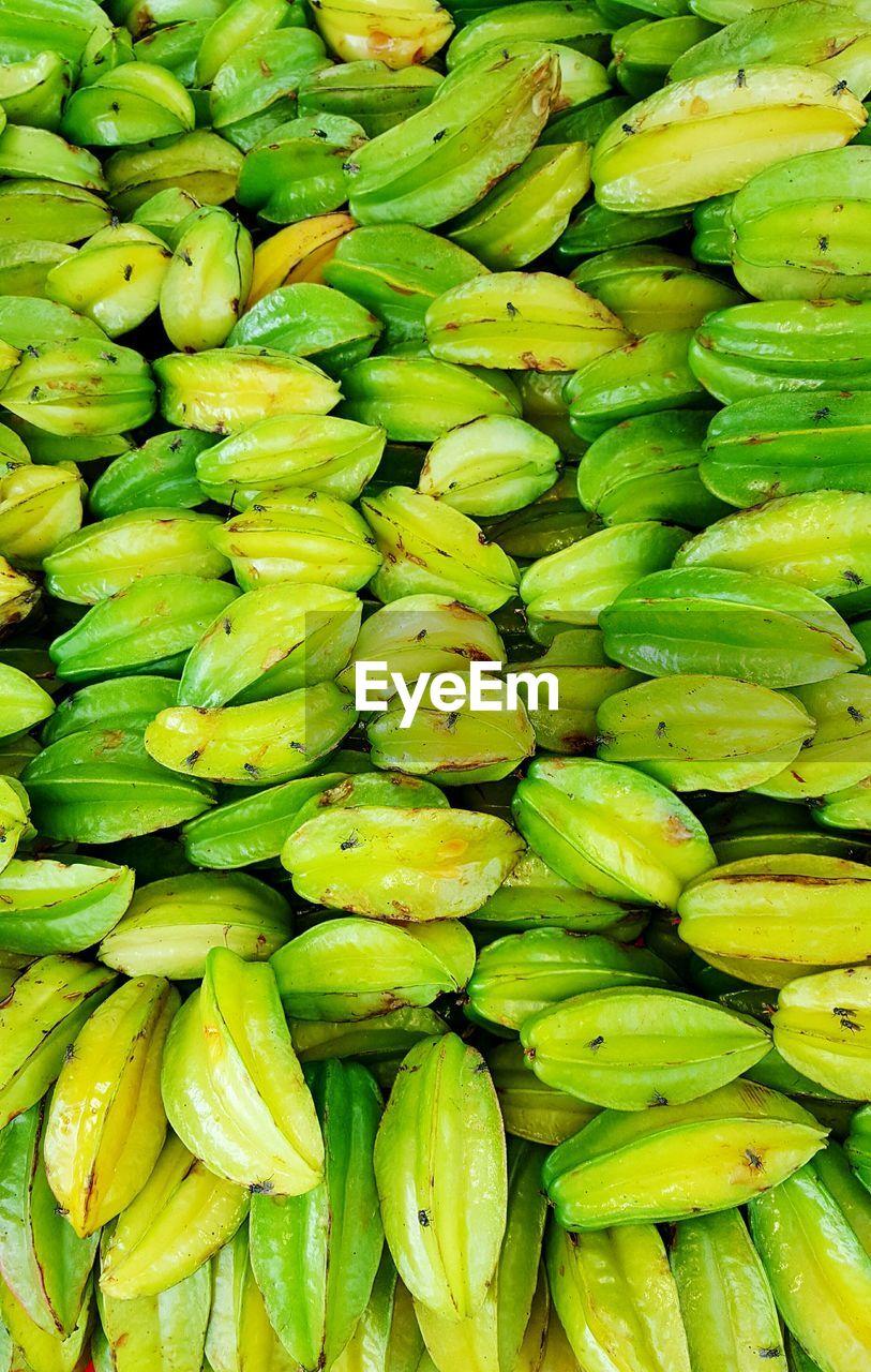 Full Frame Shot Of Starfruits