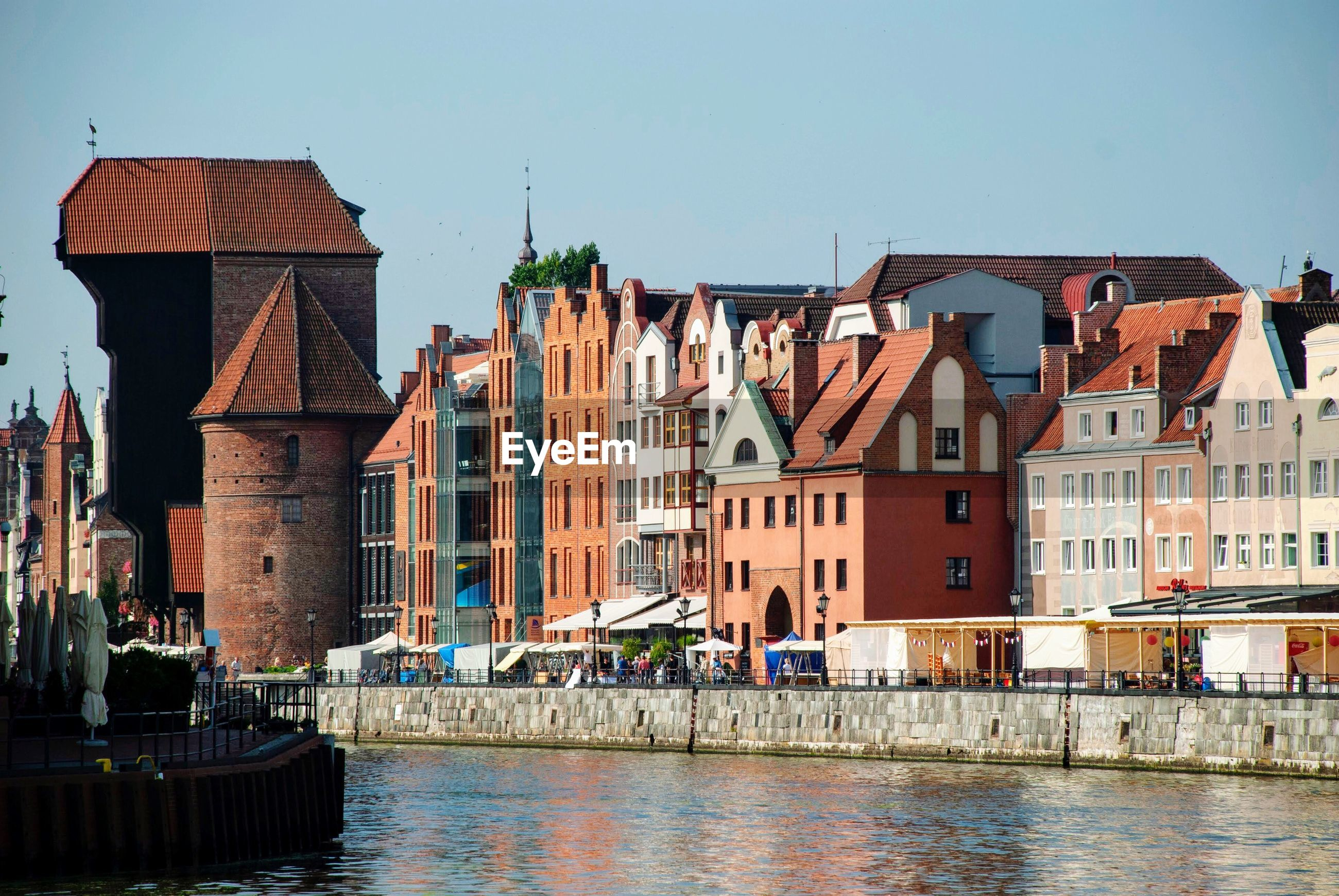 Landmark hanseatic league cityscape of gdansk, poland