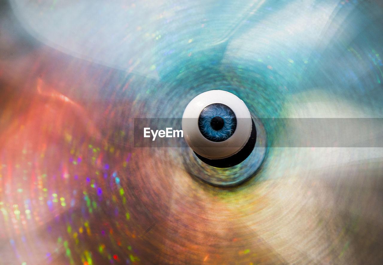 Digital Composite Image Of Eye
